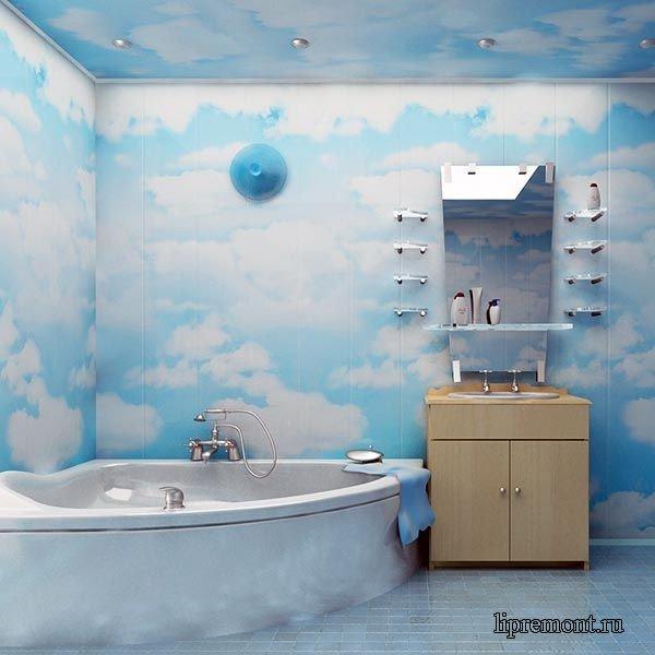 Отделка ванной комнаты панелями пвх