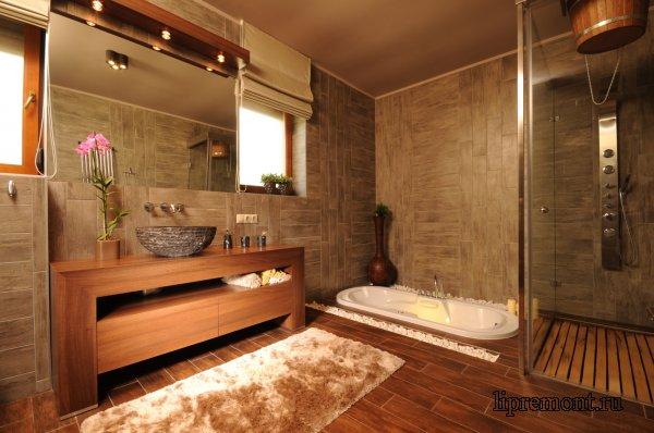 Интерьер ванной комнаты в разных стилях
